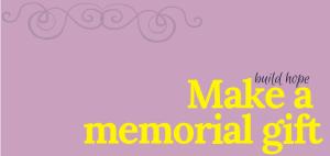 Memorial donation button